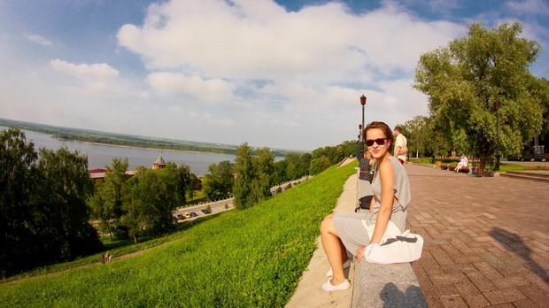 Pohľad z Kremľa na rieku VolgaA